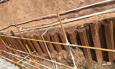 彰泰城钢板桩边坡支护1