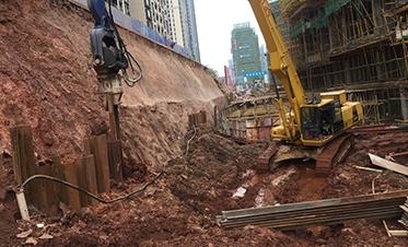 彰泰城钢板桩边坡支护2
