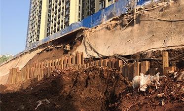 彰泰城钢板桩边坡支护6
