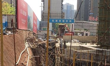 彰泰城钢板桩边坡支护8